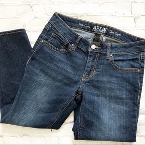 Apt. 9 Essentials Dark Wash Slim Capri